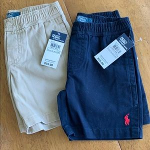 2 pairs of Polo Ralph Lauren shorts size 4T NWT!